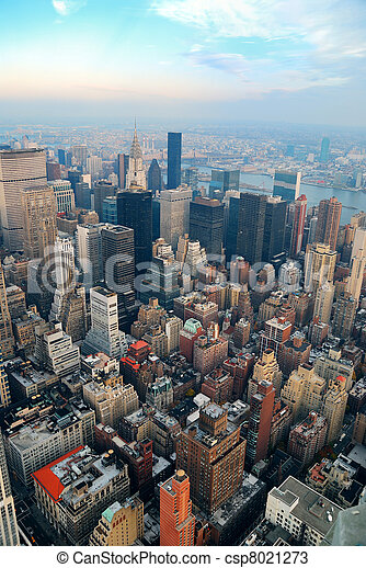 Novo, cidade,  Manhattan,  York - csp8021273