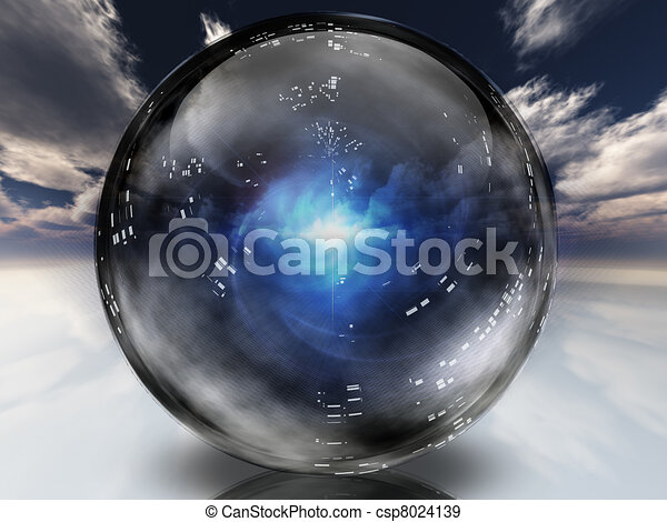 Mysterious energy contained within crystal sphere - csp8024139