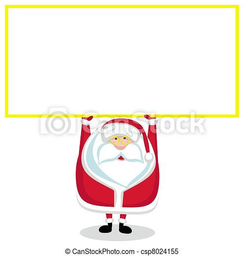 Cartoon Santa with copy space. - csp8024155