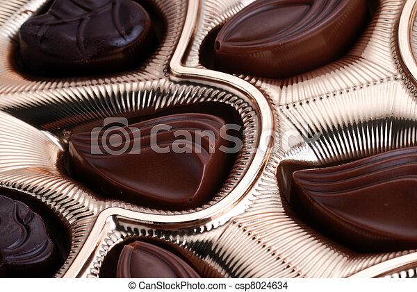 chocolates in foil box