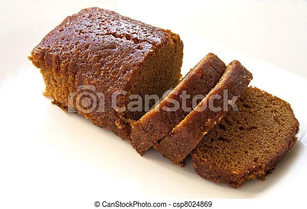Loaf Cake Clipart : Stock Photographs of ginger cake - Half sliced ginger loaf ...
