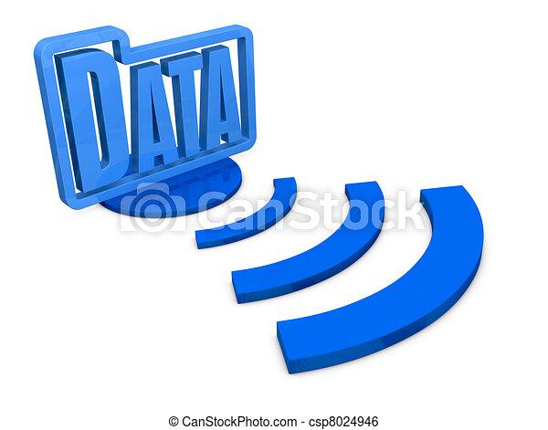 concept of computer data - csp8024946