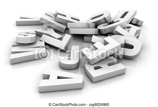 pile of letters - csp8024960