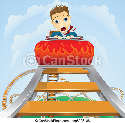 Business roller coaster ride concept - csp8025188