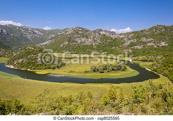 Rivers meander - beauty view , Montenegro - csp8025565