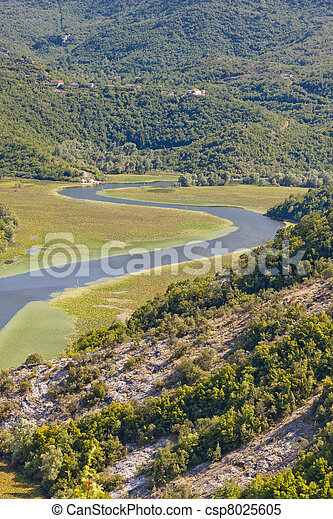 River to Skadarsko lake - Montenegro - csp8025605