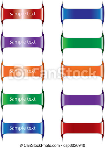 Set of paper  color tags. Vector illustration - csp8026940