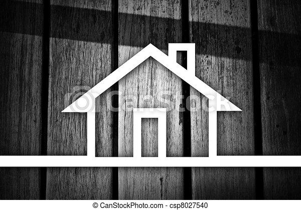 stock illustration von linien gezeichnet in der haus. Black Bedroom Furniture Sets. Home Design Ideas