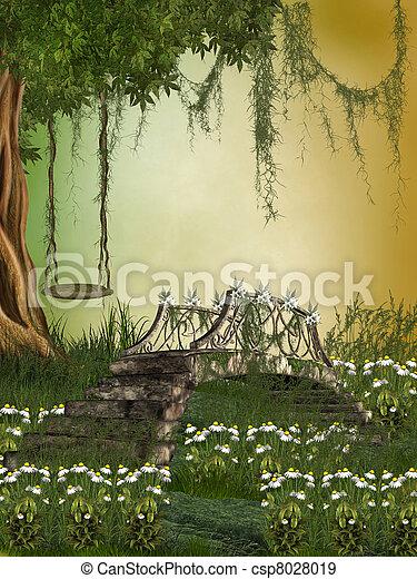 fantasie, landschaftsbild - csp8028019