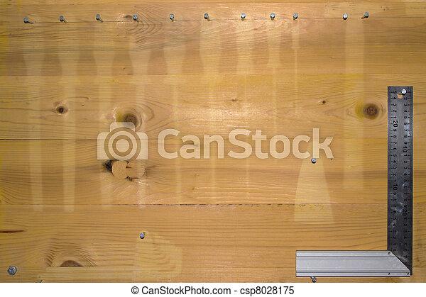 Empty pegboard - csp8028175