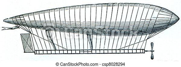 Airship of Renard and Krebs, 1884 - csp8028294