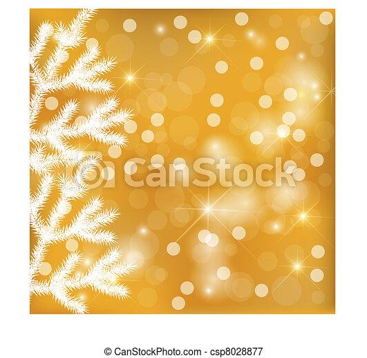 Golden festive lights background - csp8028877