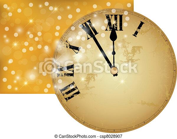 New Year?s clock - csp8028907