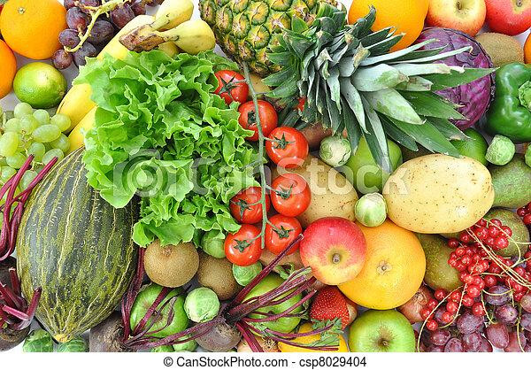 grönsaken, frukt - csp8029404