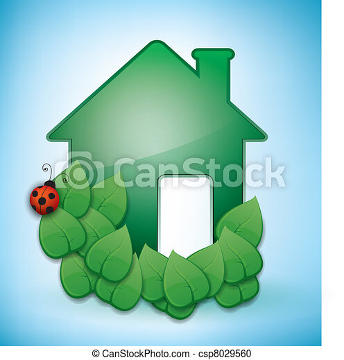 Green Eco-friendly House - csp8029560