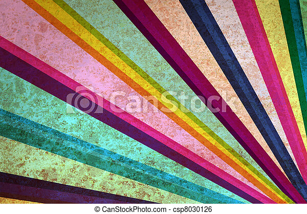 Multicolor sunbeams abstract grunge background. - csp8030126