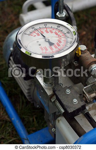 Barometer on machine - csp8030372