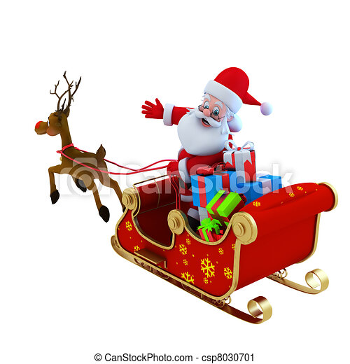 Santa sleigh Illustrations and Stock Art. 6,899 Santa sleigh ...