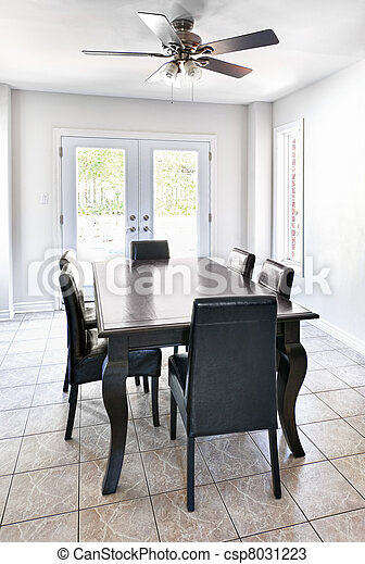 Interior with dining table - csp8031223