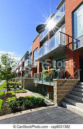 Modern townhouses - csp8031382