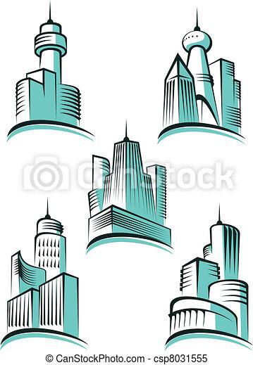 Skyscrapers symbols - csp8031555
