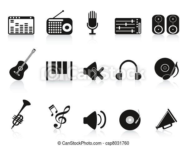 music sound equipment icon - csp8031760