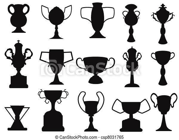 black champion cup icon - csp8031765