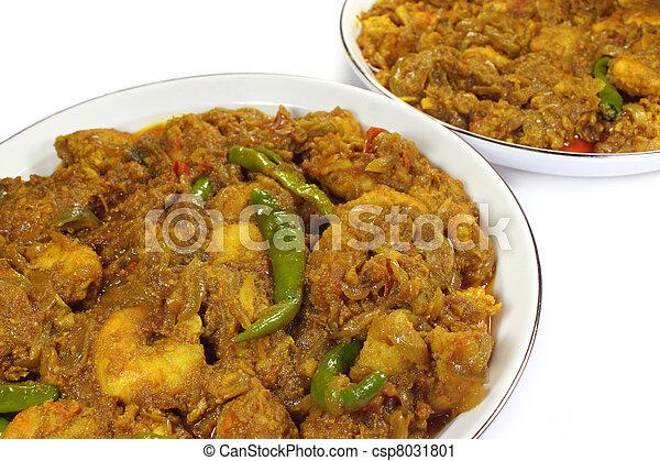 Spicy shrimp curry - csp8031801