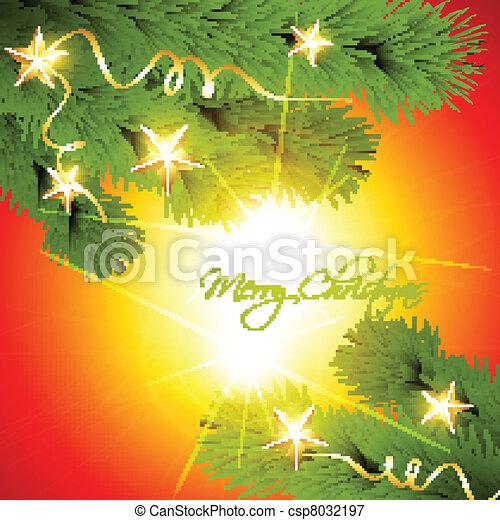 christmas pine tree - csp8032197