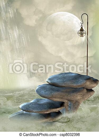 fantasie, landschaftsbild - csp8032398