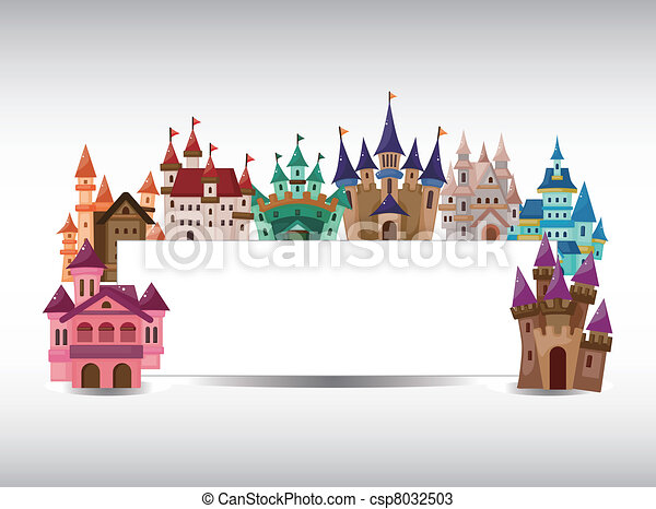 cartoon castle card - csp8032503