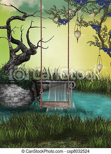 fantasie, landschaftsbild - csp8032524