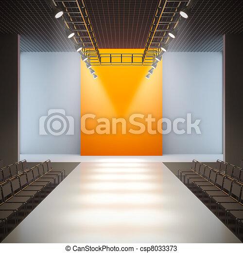 Fashion empty runway. - csp8033373