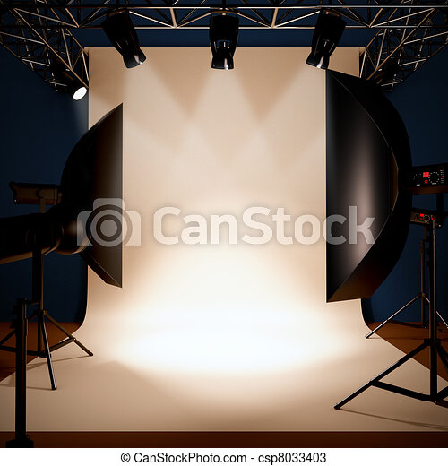 A photo studio background template. - csp8033403