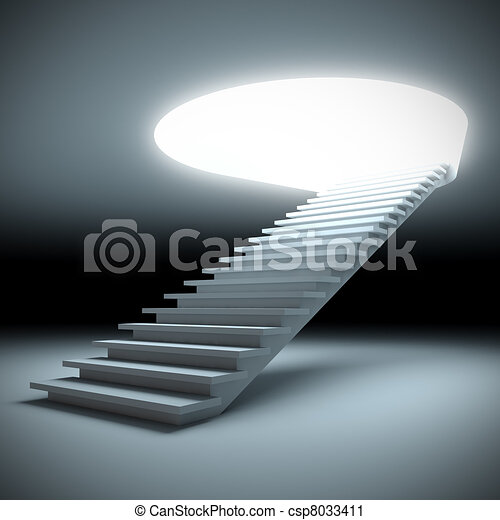 Stair to the future. - csp8033411