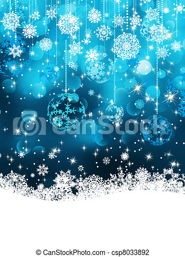 Christmas background with baubles. EPS 8 - csp8033892