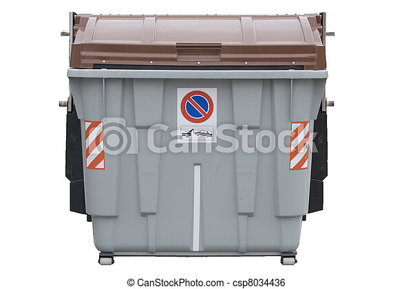 isolated big trash dumpster - csp8034436