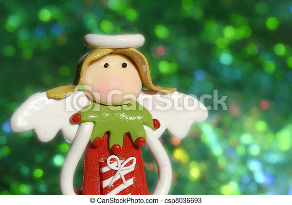 Christmas greeting cards, angel funny - csp8036693