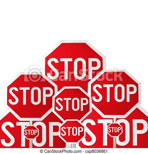 Stop, conceptual image - csp8036861