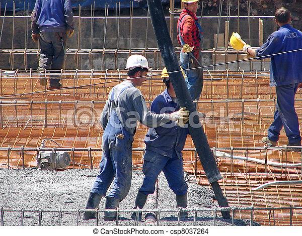 construção, trabalhador - csp8037264