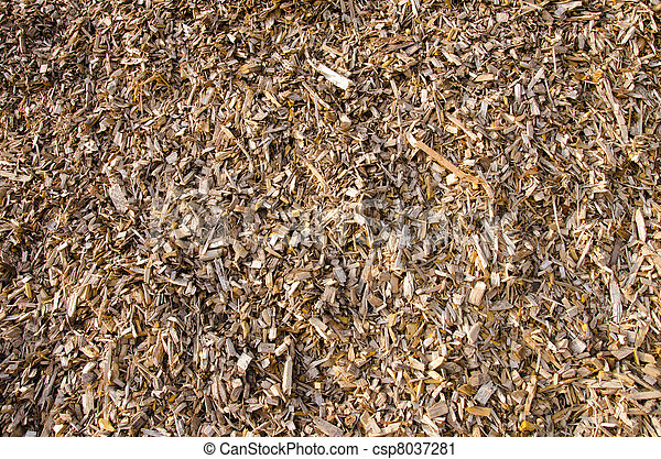 Background of wood shavings.Biomass fuels.
