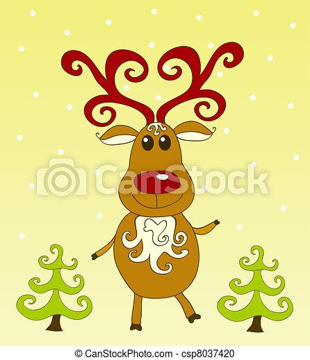 Christmas card. - csp8037420