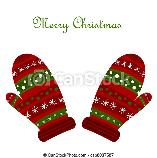 Christmas gloves - csp8037587
