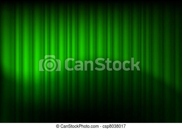 Green drapes reflected - csp8038017