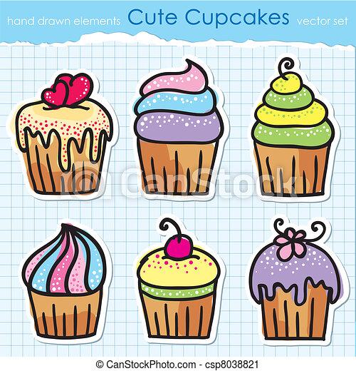 cupcakes set - csp8038821