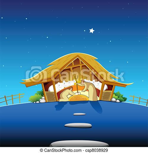 Nativity Scene - csp8038929