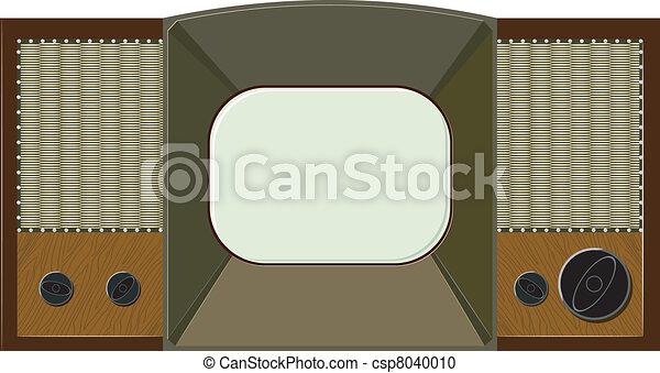 Vector artwork will old TV - csp8040010
