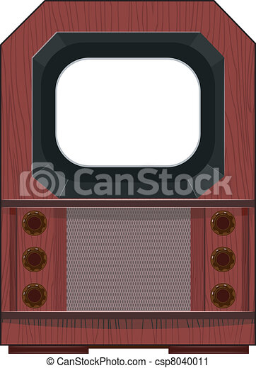 Vector artwork old TV - csp8040011
