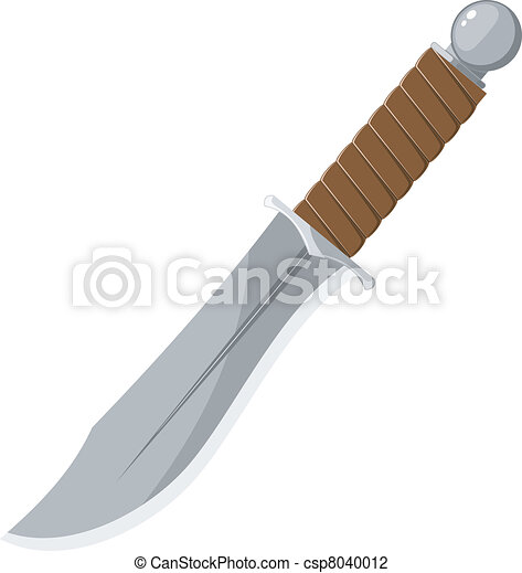 Vector illustration of a sharp knife - csp8040012