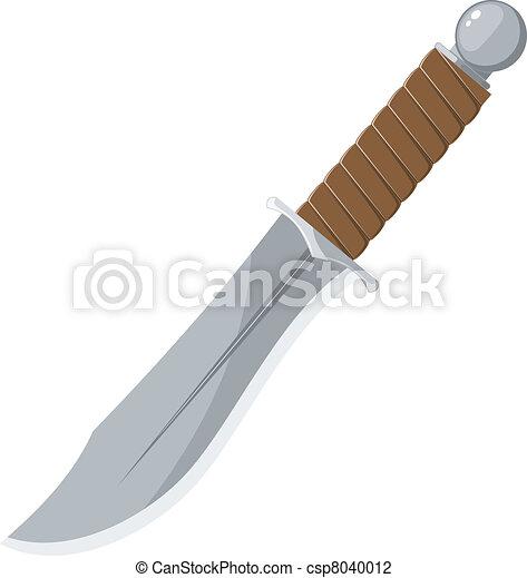 Vector illustration of a sharp knife - csp8040012